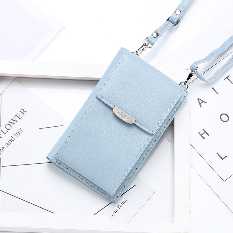 Fashion Leather ladies Mobile Phone Wallet Bag with Cards Holder Coin Pocket Women Small Shoulder Phone Bag
