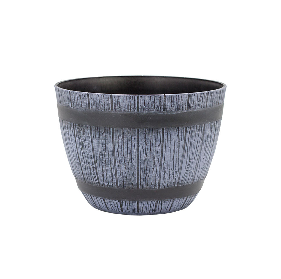 Factory direct price mini plastic wood grain pot for flower