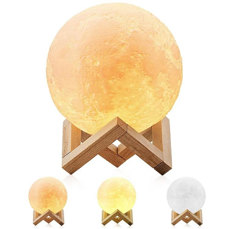 2020 Factory 3D Led Night Light Moon Lamp For Kids Balloon Shaped Ball Light Creative Christmas Gift