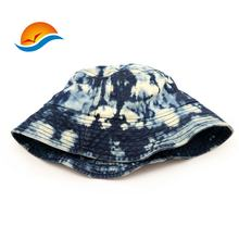 Custom Tie Dye Washed Cotton Denim Bucket Hats  For Summer
