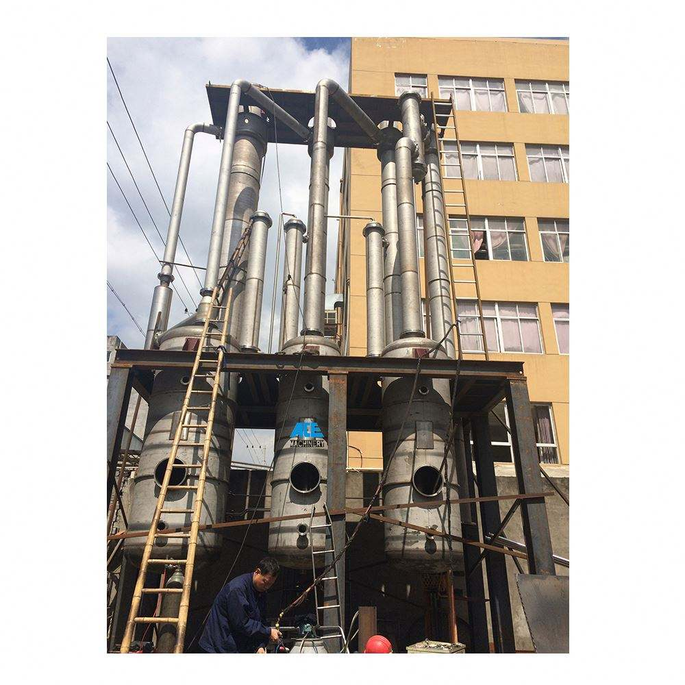 Fruit Juice Concentrator Double-Effect Falling Film Thermal Evaporator