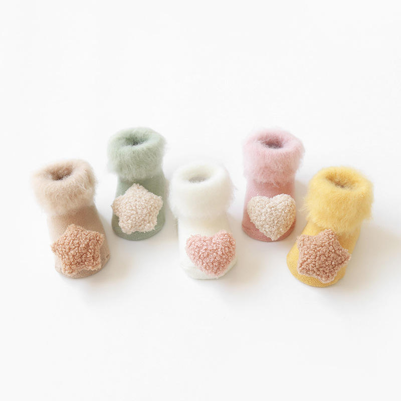 Factory Direct Sale Fuzzy Toddler Newborn Socks Wholesale Winter New Design Cute 3D Colorful Infant Baby Socks