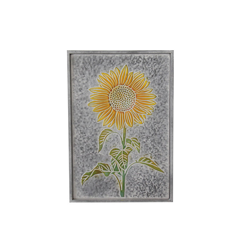 Supplier Wholesale Rustic Style Sunflower Metal Wall Decoration Tin Signs