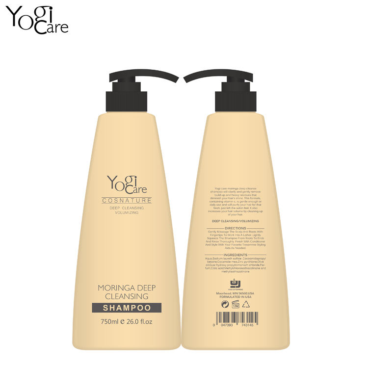 Natural Hair care product Organic Moringa Hair Care Shampoo deep cleanse used for hotel family hair salon