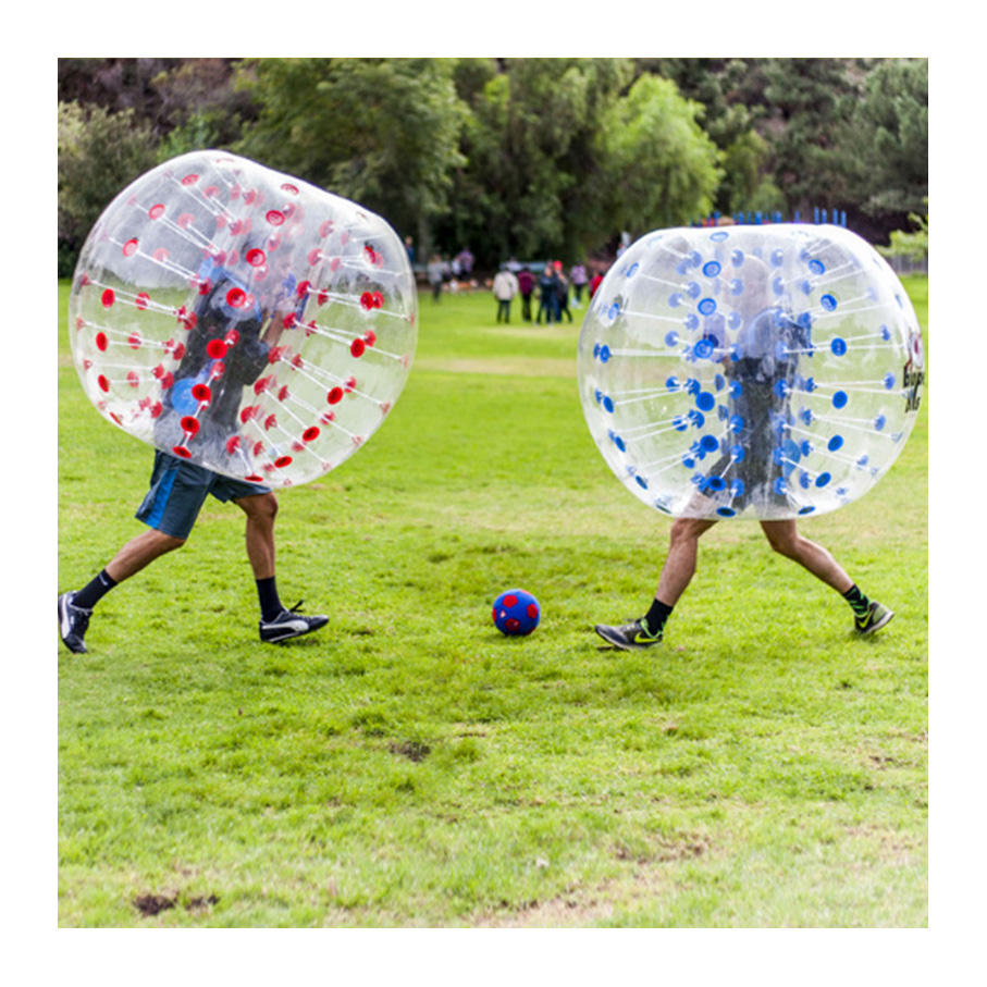 1.2M/1.5M cheap Inflatable Bumper Ball 4ft/5ft Diameter Bubble Soccer Ball 0.8mm PVC Transparent color Human Knocker Zorb Ball