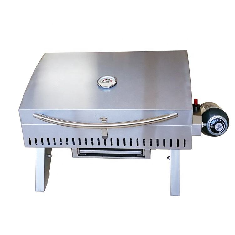 2020 Hot Sale Komenjoy G002 Outdoor Portable Tailgating, Picnic, Camping Stainless Steel Tabletop Gas Barbecue BBQ Grill