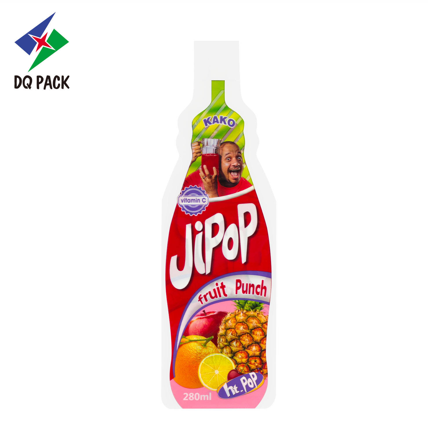 China DQ PACK Hot sale Fruit shaped pouch for juice injection bag
