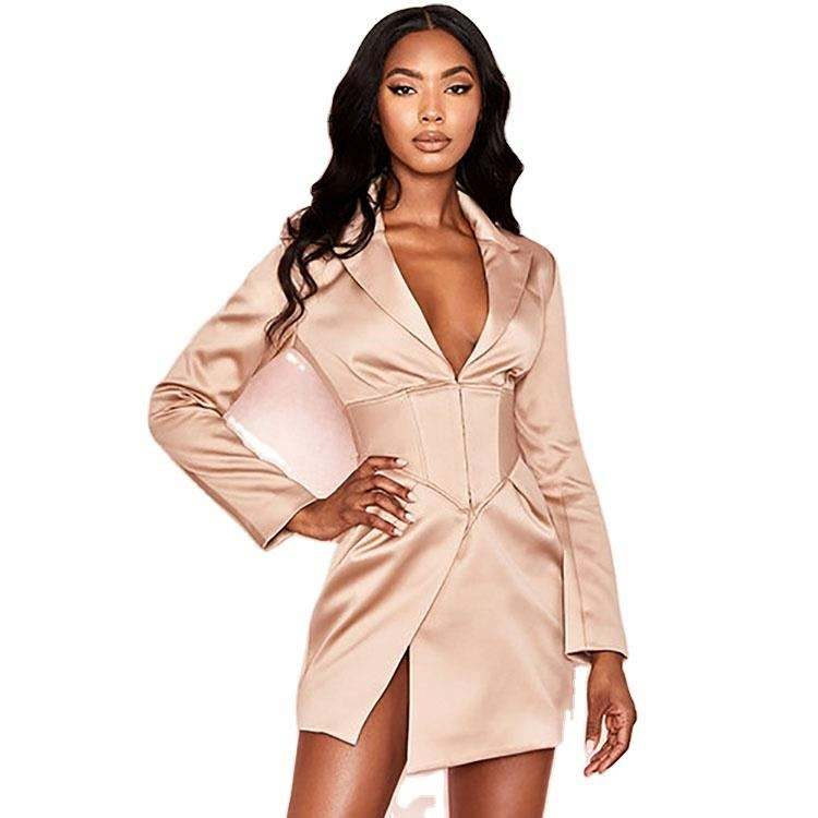 Latest women tuxedo suits formal sexy top blouse ladies punjabi suit two piece set women clothing