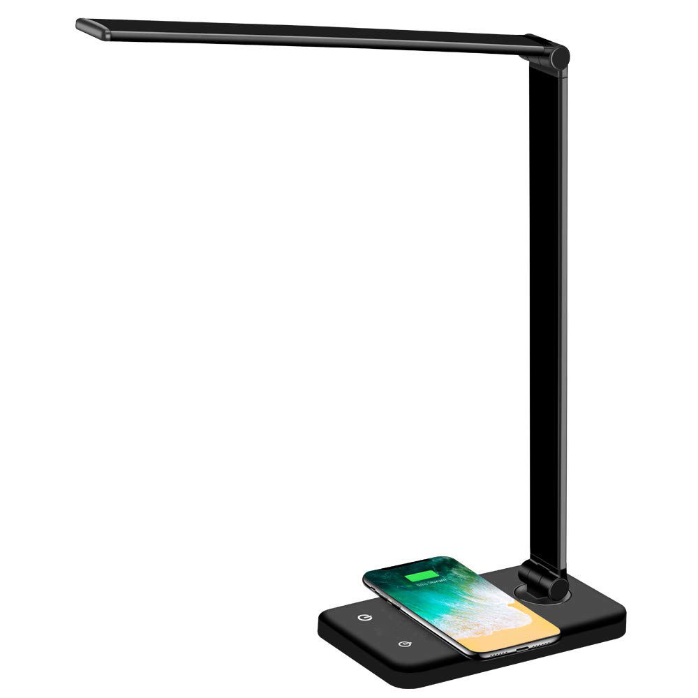 wholesale modern bedside foldable led table lamp light Phone wireless charging desk lamp