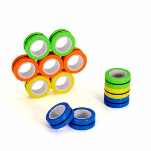 stress relief finger ring magnetic ring spinner toys