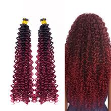 Colorful Free Tresses Synthetic Water Wave Crochet Bohemian Style Afro   Kinky Twist Freetress Crochet Braids Curly Hair Bundle