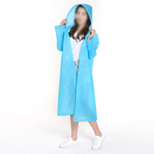 Clear Plastic Protect Clothing Adult Blue Waterproof Pe Disposable Raincoat