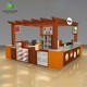 Pioneer wooden retro style toy kiosk for retail children toy display stand in shopping mall clothing kiosk