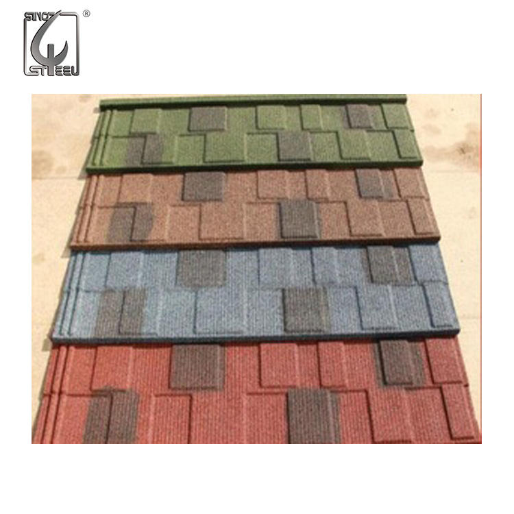 0.35x420x1340 shingle tile stone coated steel roofing manufacturer factory