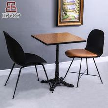 (SP-RT102) Modern fireproof board table top iron cast feet cafe restaurant table and chair