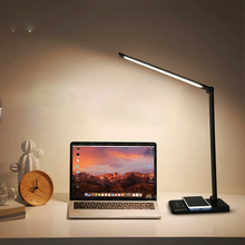 Aluminum 5 Brightness Eye-caring Timer Dimmable Rechargeable Reading Lamp LED Desk Lamp USB Wireless Charging Lamp