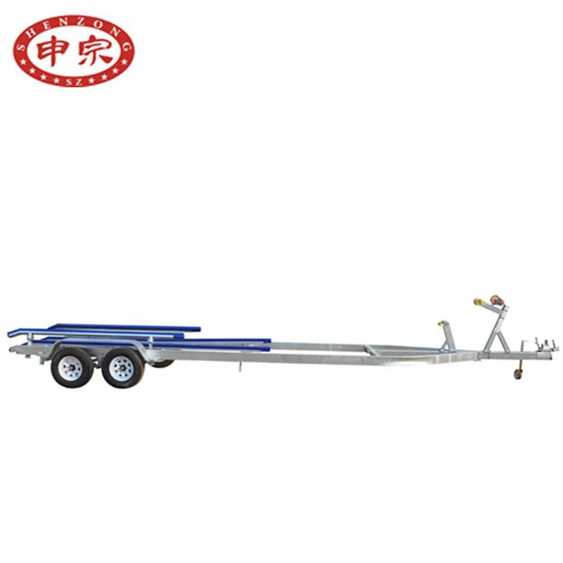 3500kg tandem axle inflatable galvanized boat trailer