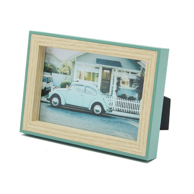 Jinn Home Custom mixed color 4x6 wood picture frames for home decor