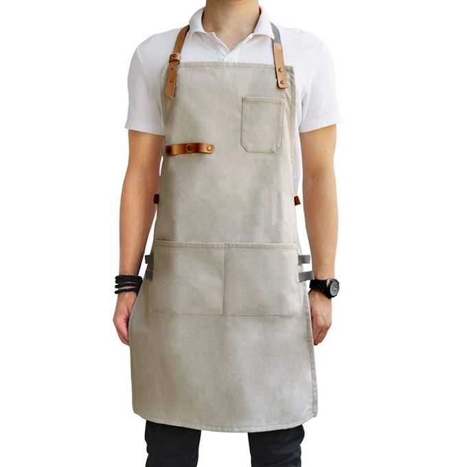 Custom Canvas Chef Apron Adjustable Bib Apron For Women Kitchen Cooking