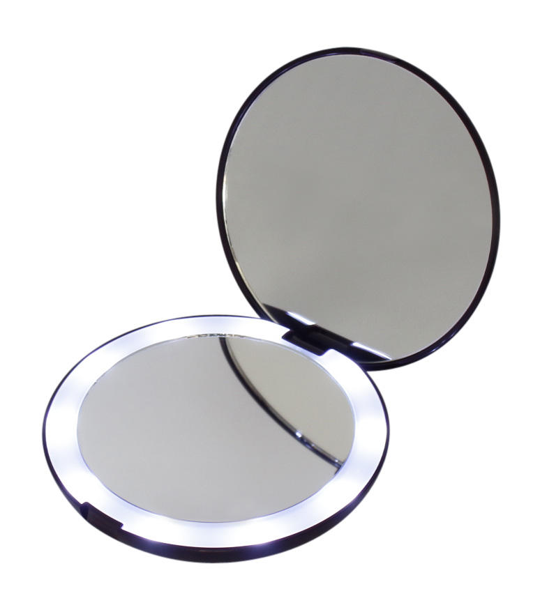 Cheap Cosmetic Beauty Travel Round Mirrors Compact Pocket Mirror With Led Light