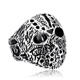steel soldier friday the 13th panic jason mask ring stainless steel punk biker man party cool jewelry