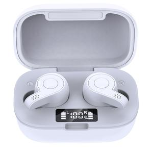 S11S Bluetooth V5.0 2020 New Design Earbuds with Type C Charging Case Connector Battery Display TWS Bluetooth Earphone-White