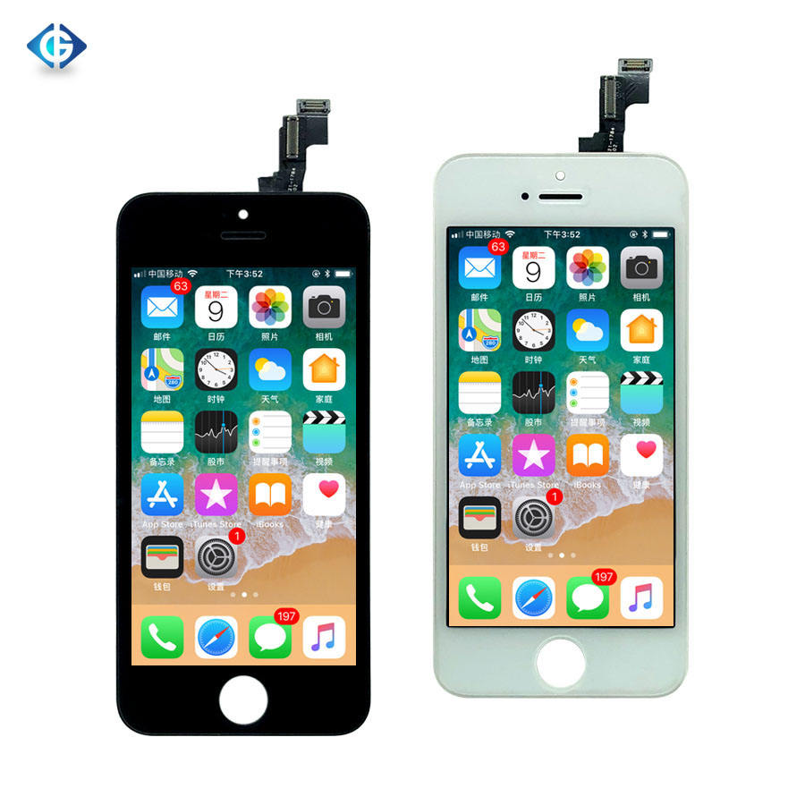 Mobile Phone LCDs 4'' black white for iPhone 5S LCD