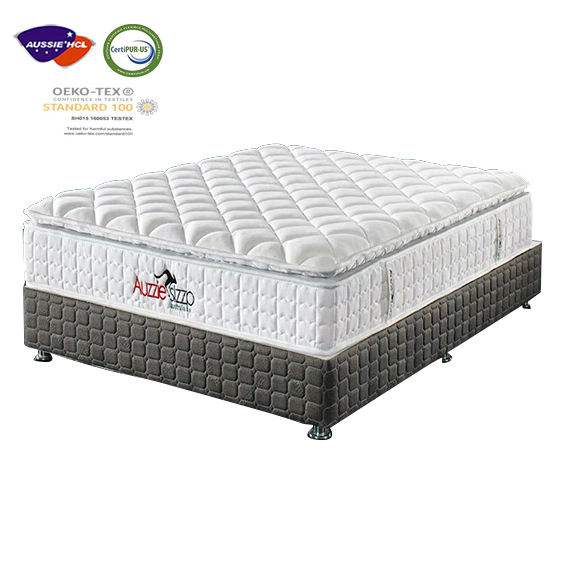 10 Inch 9 Zone Top Pocket Spring Natural Latex Mattress Bed Foam King Memory Fabric Size Mattresses