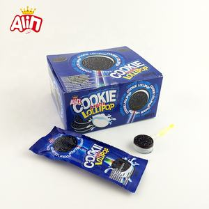 Creativo biscotti Oreo hard candy colorato fluorescente latte lollipop