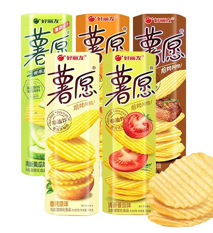 Haoliyou Best-selling Popular Non-fried Potato Chips Factory Snacks