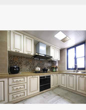 New Classic White Color Solid Wood Kitchen Cabinet Design Home Kitchen