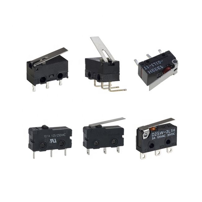 KLS Snap Acting Switch 2A 5A 16A 125V 250V SPDT Miniature Straight left right side pcb terminal 3 pin mini micro switch