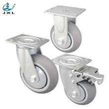 silent 6 inch gray rubber wheels for trolley