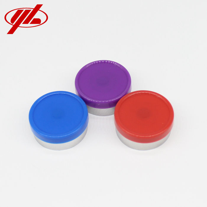 GMP Certified 20mm Smooth Surface Injection Vial Aluminum Plastic Flip Off Cap Seal