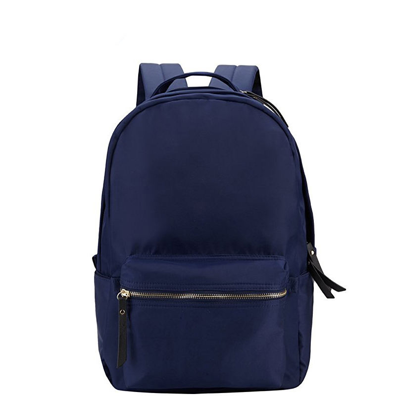 recycled fabric bag high quality regular style basic soft bag pack nylon school BAG backpacks with front pocket