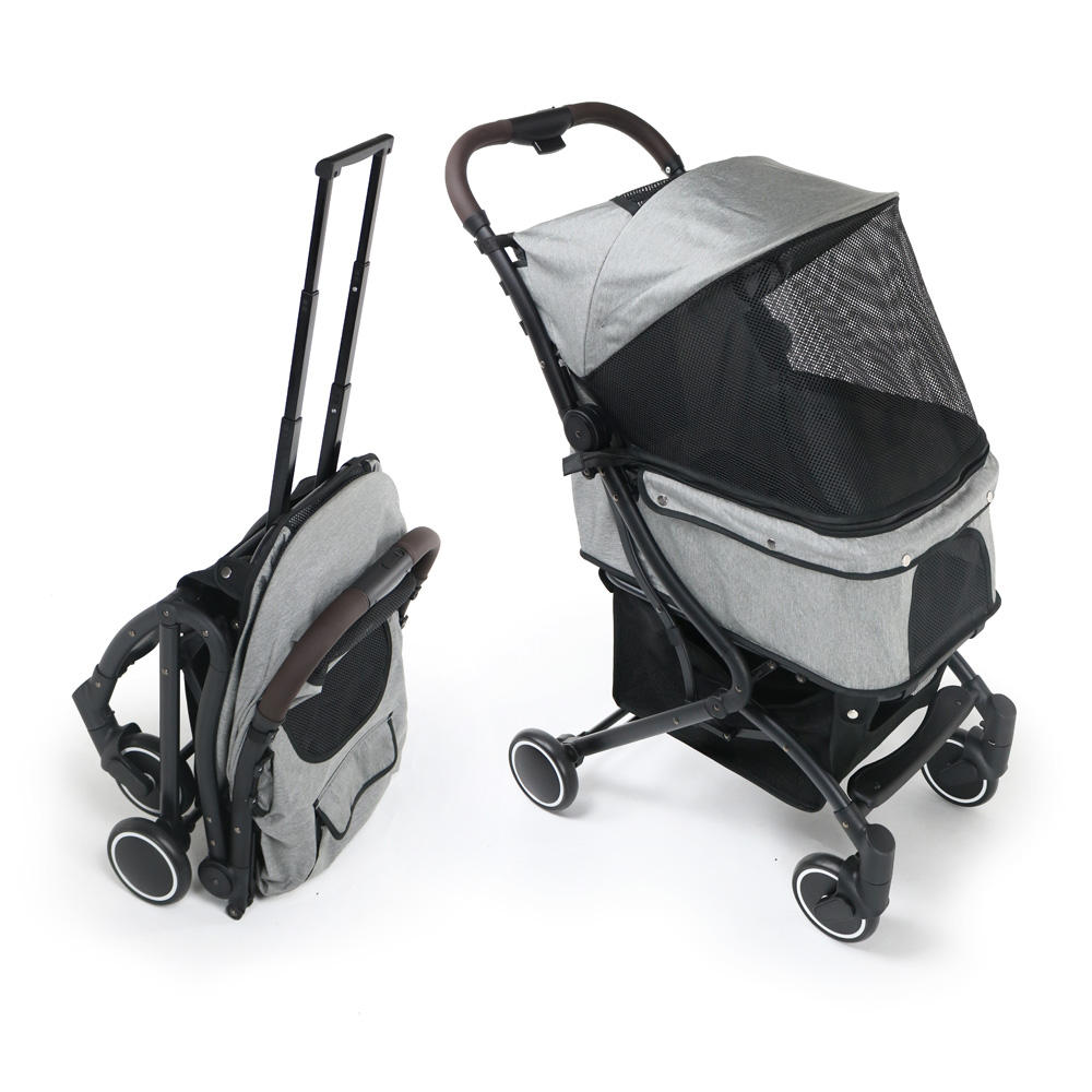 Factory direct sale hot selling customized luxury oxford pet dog stroller