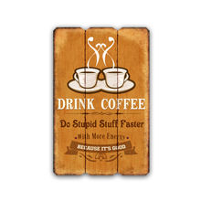 Home Decorative Vintage Wooden Word Sign Novelty Wooden Coffee Plaque Wooden Signs