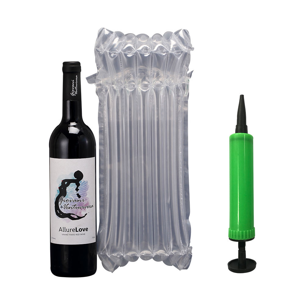 Tailor-made Columned Inflatable Air Cushion Packaging Bags for Wine&Champagne Bottle