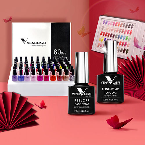 61508Ka Venalisa Vip Set 60 Kleuren Gel Polish Kit Goedkope Prijs Private Label Salon Nail Gel Set Base Coat Topcoat kleuren Boek