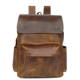 European and American men's baotou layer genuine leather laptop travel backpack