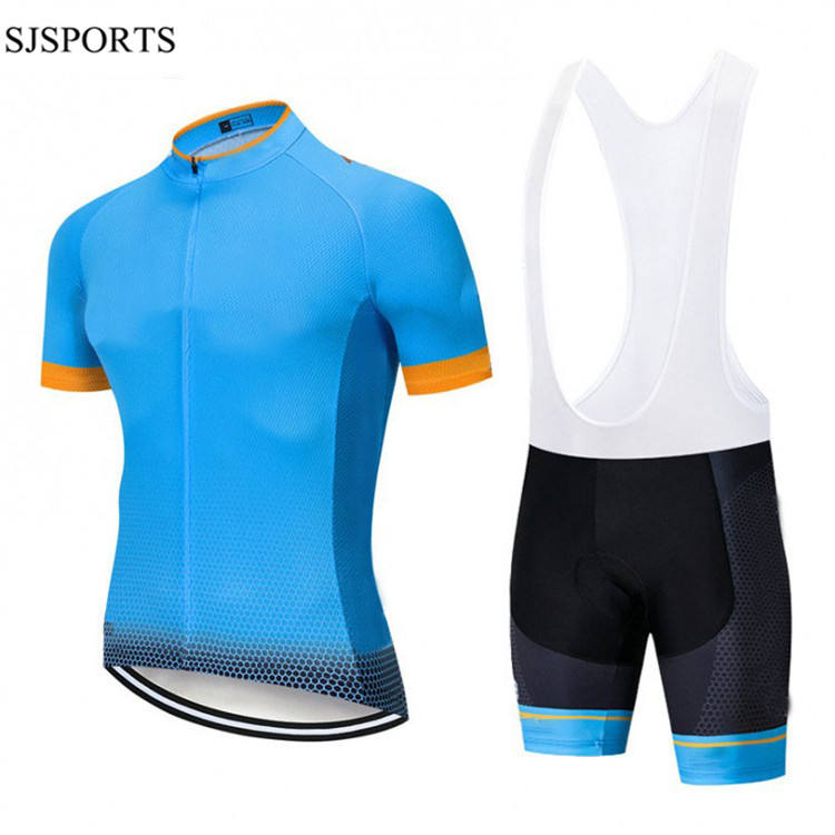 Pro Team Cycling Jerseys Sets Bicycle Kit Cycling Suit Clothing Short Sleeve Road Bike Jersey