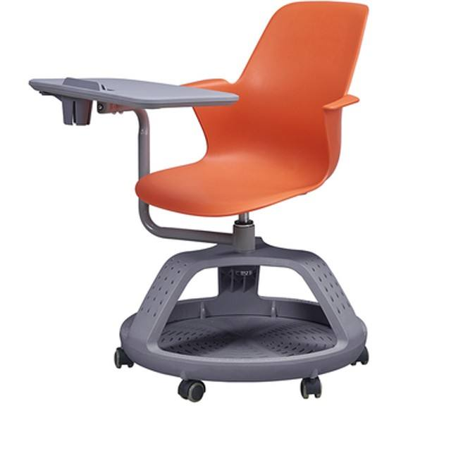 Excellent Quality School Classroom Table And Chair Single Student node swivel Chair With Wheel