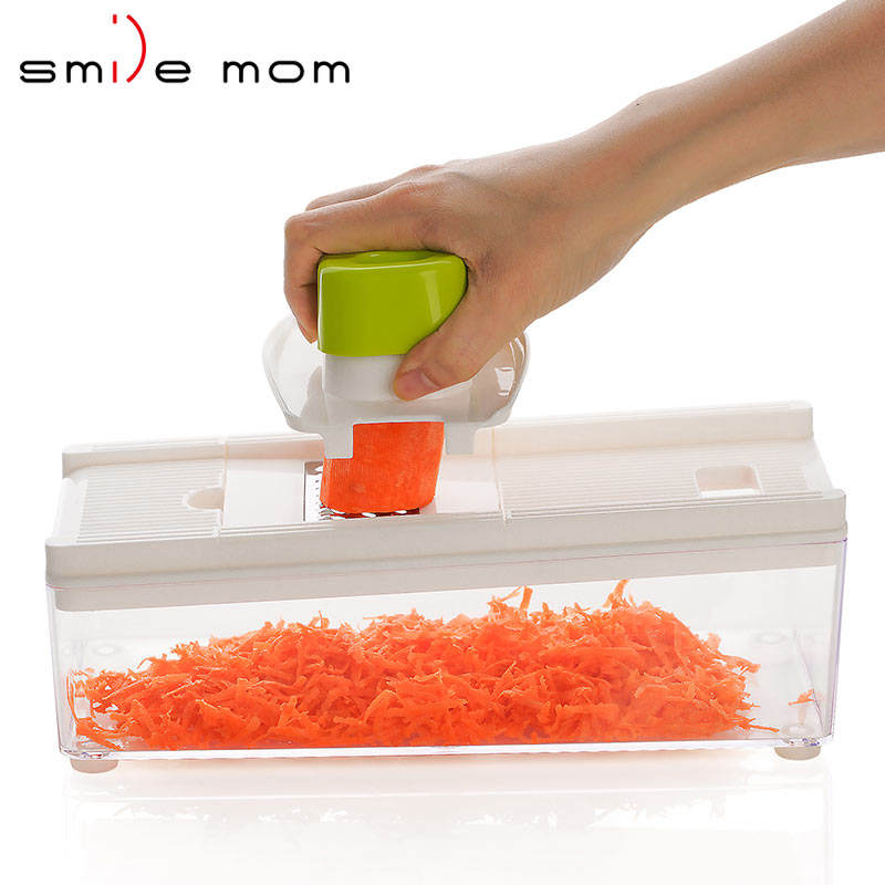 Free sample adjustable blades dicer vegetable mandolin slicer