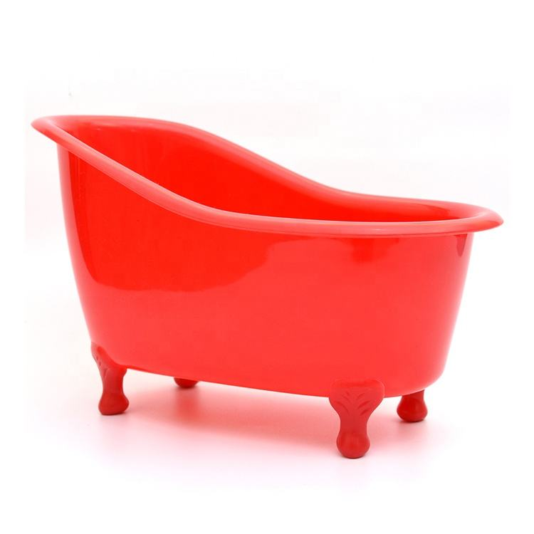 plastic mini bathtub, bathtub container for gift red, pink
