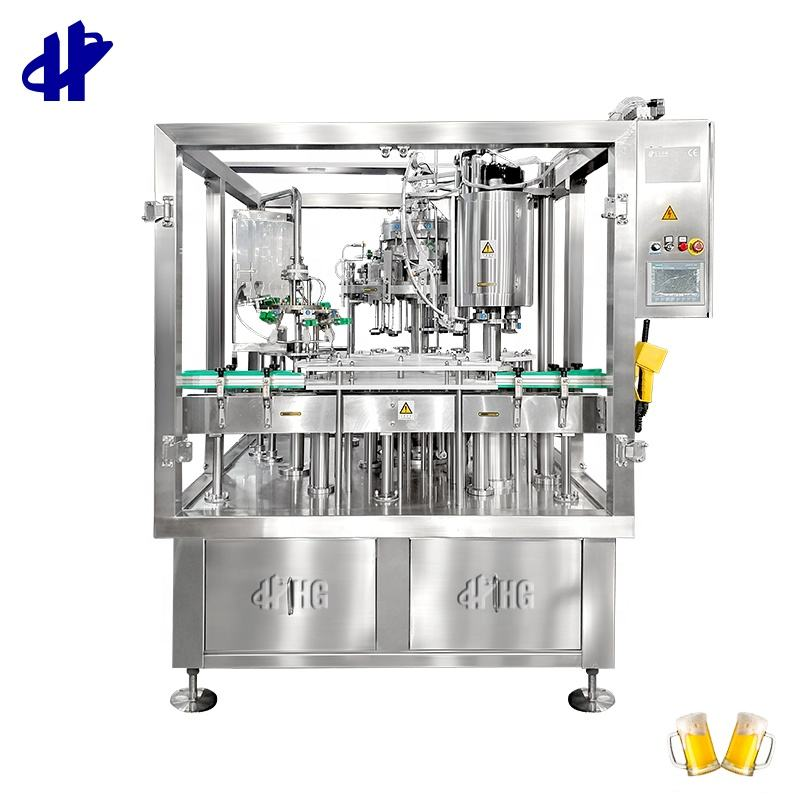 Beer Filling and Capping Machine for Glass Bottle