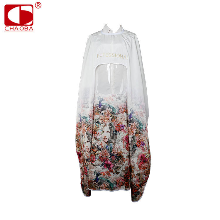 CHAOBA Professional factory waterproof oversized barber cheap hairdressing capes printing and aprons