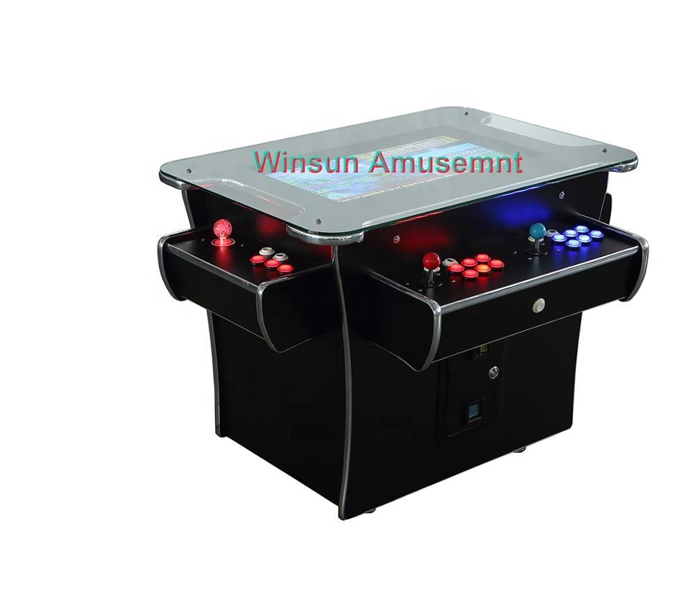 "26"" screen 4 players cocktail arcade game table with 3500 games"