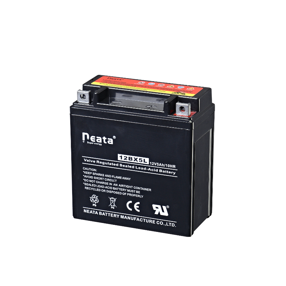 Rechargeable VRLA battery 12V 5Ah Maintenance Free for Motorcycle 12N5