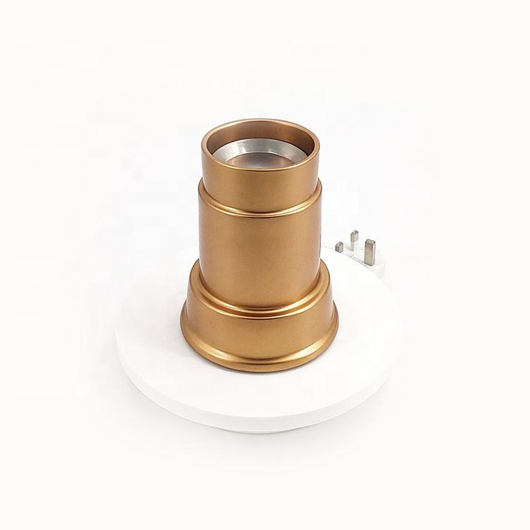 Portable Copper Gold Ceramic Electric Burner Incense With Indicator Light