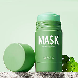 Private label VENZEN green mask stick mud pink Eggplant yeast Clay mask green tea cream clean face mask for facial care